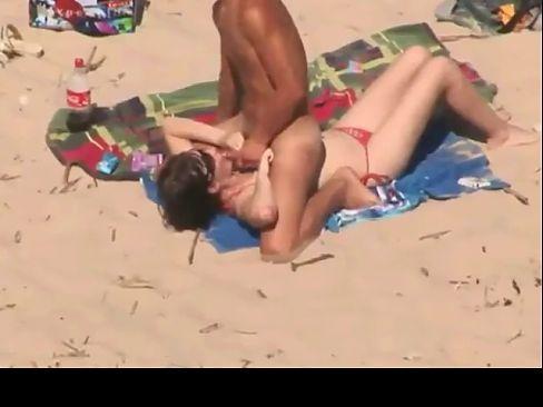Horny Couple Fucking on Beach BVR