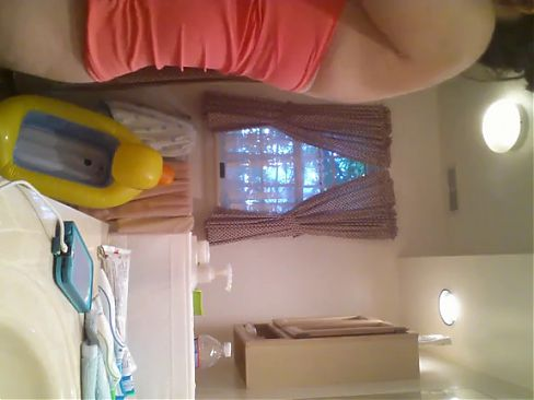 Big titted stepsister in bathroom caught by hidden camera